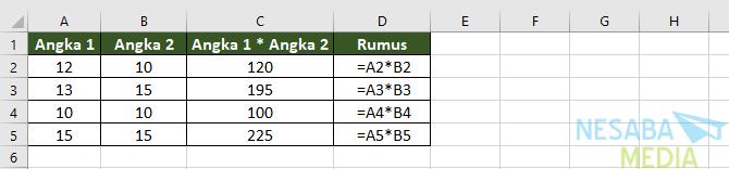 Perkalian di Excel I