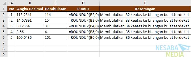 Contoh fungsi ROUNDUP II