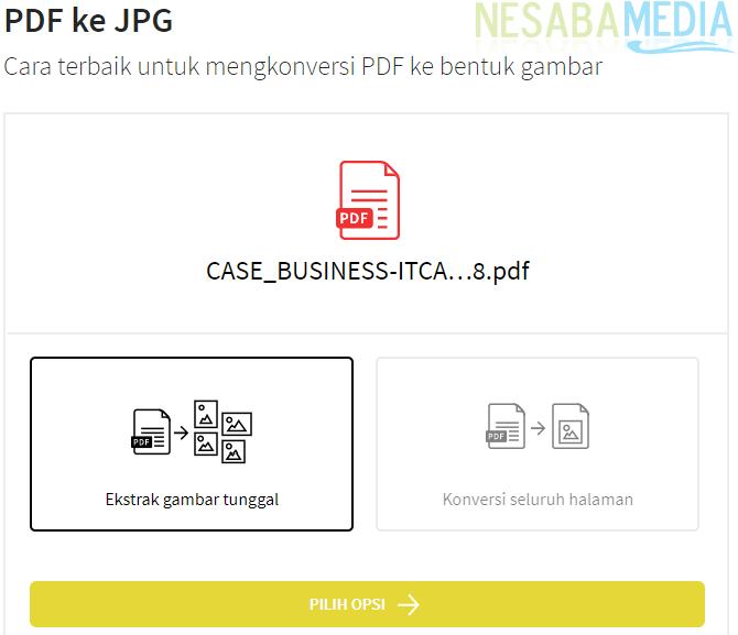 Konversi PDF ke JPG