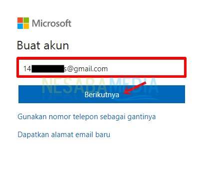 Step 4 - fill in email then click next