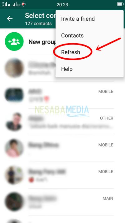 Cara Menghapus Kontak WhatsApp di HP