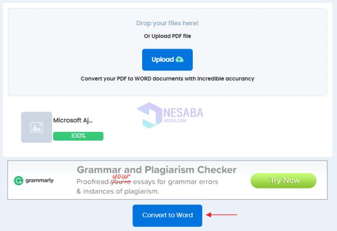 convert pdf to word dengan duplichecker 3