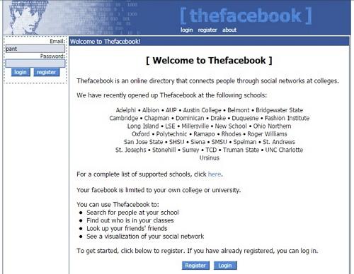 TheFacebook - Pengertian Facebook Tempo Dulu
