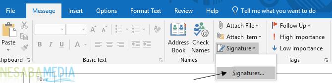 Cara Membuat Signature di Outlook 1
