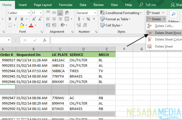 How to Remove Empty Columns and Rows in Excel 11