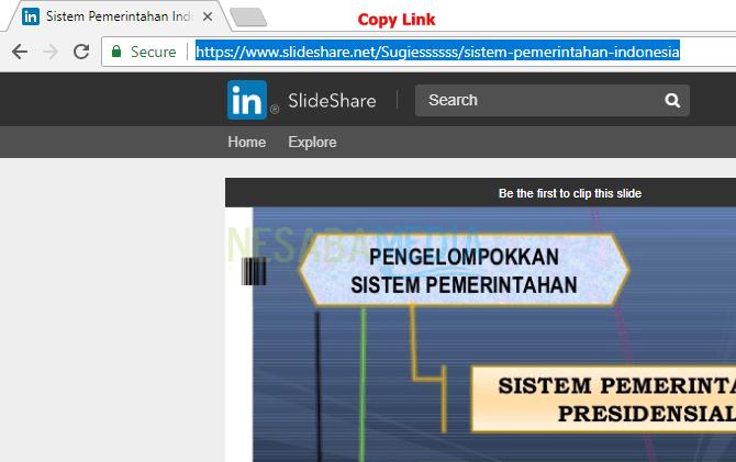 cara download slideshare