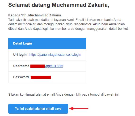 verification email address