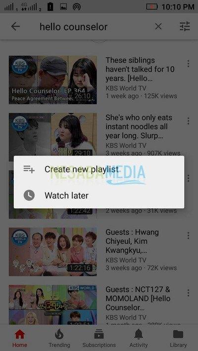 create new playlist 1