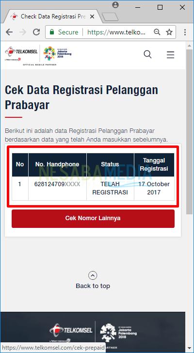 cara cek registrasi kartu telkomsel sudah berhasil