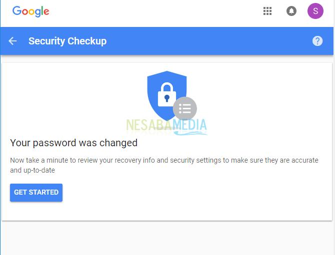 cara mengubah password akun google