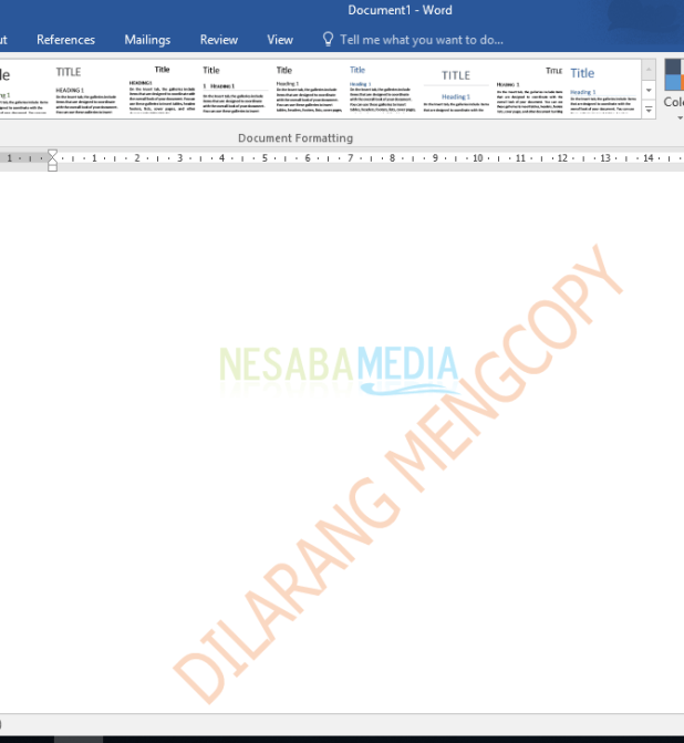 how to create watermark in word text