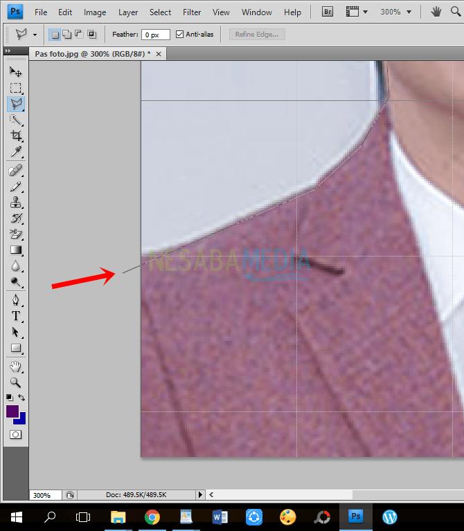 cara membuat pas foto di photoshop cs6