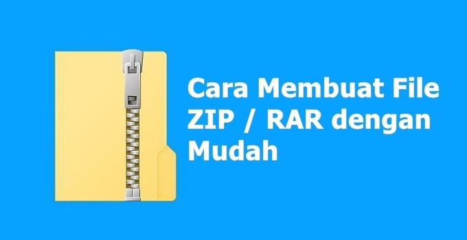 cara membuat file zip dan rar