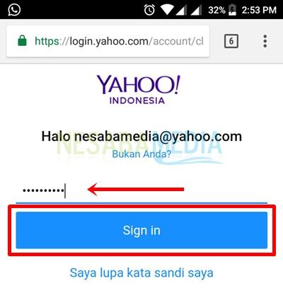 insert password