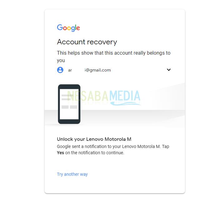 lupa kata sandi akun google dengan mudah