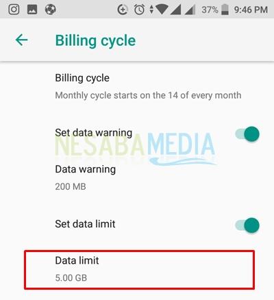 set data limit