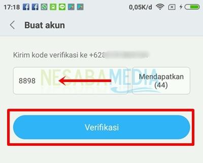 click verification button
