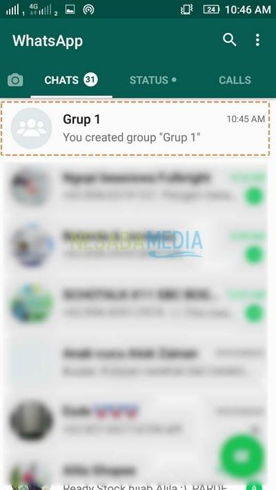 Membuat Grup di WhatsApp