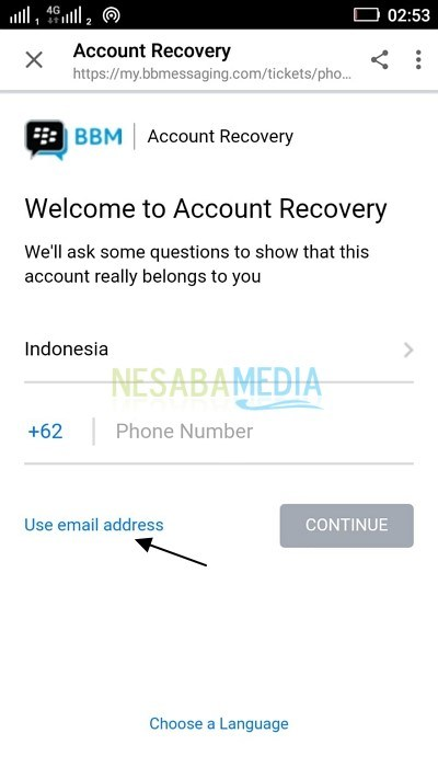 BBM Recovery Account