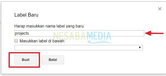 cara membuat folder di gmail lewat PC
