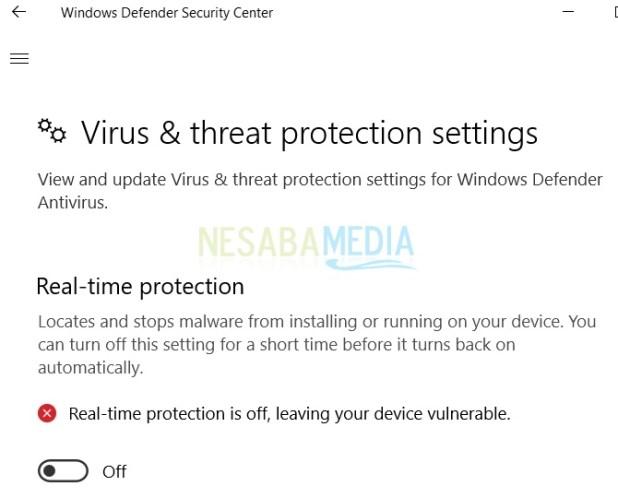 how to deactivate windows defender in windows 10