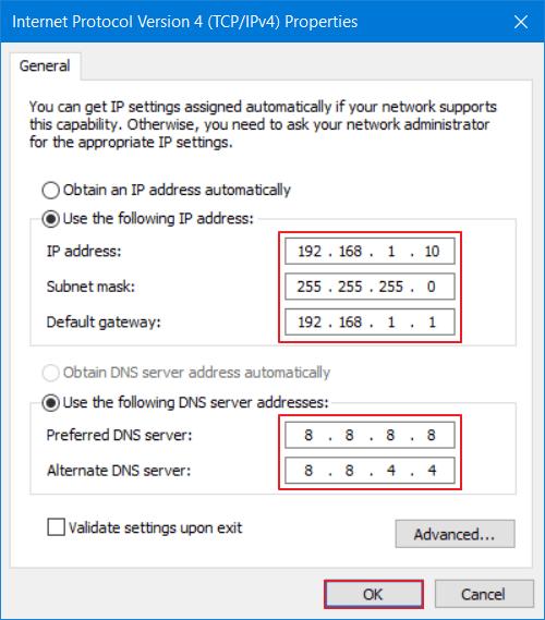 Mengganti IP Address di PC Statis 9