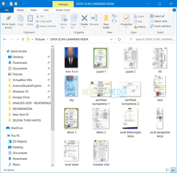 semua dokumen tersebut harus discan