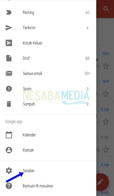cara menghapus inbox Gmail di HP