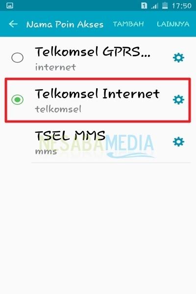 cara setting APN Telkomsel 3G dan 4G