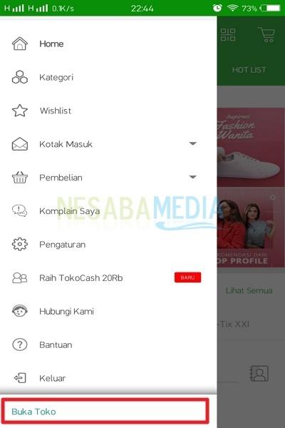 Select the Open Store menu