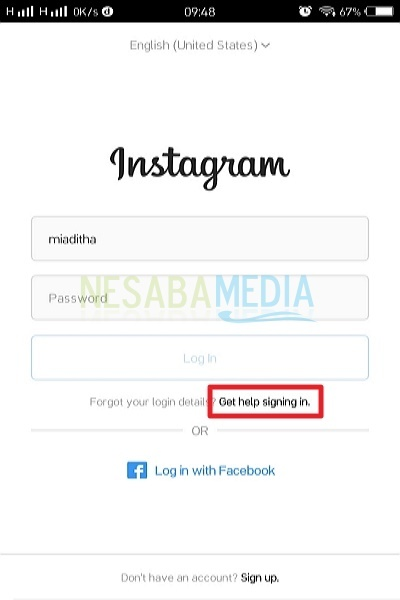 how to return an Instagram account that forgot the password
