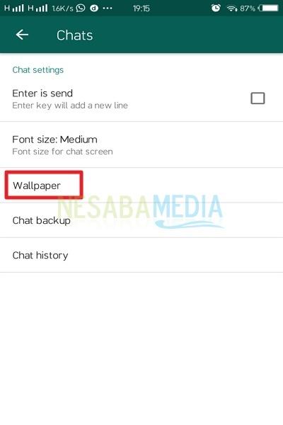cara mengganti background whatsapp tanpa aplikasi