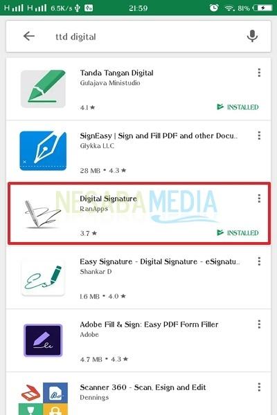 3 Cara Membuat Tanda Tangan Digital Di Android 100 Work