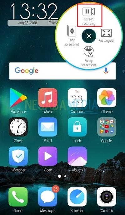 record screen tanpa aplikasi