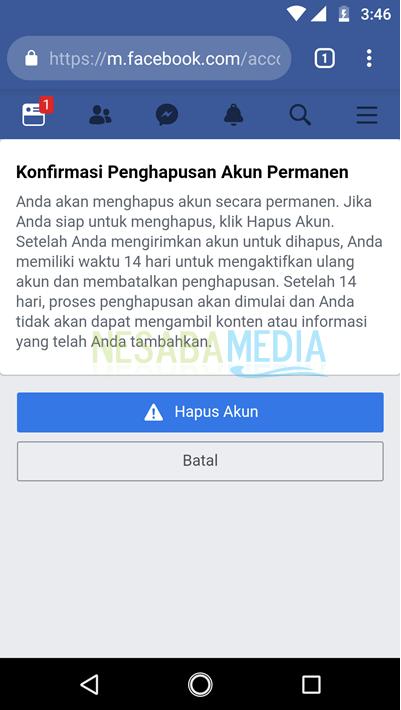 menonaktifkan akun facebook 8