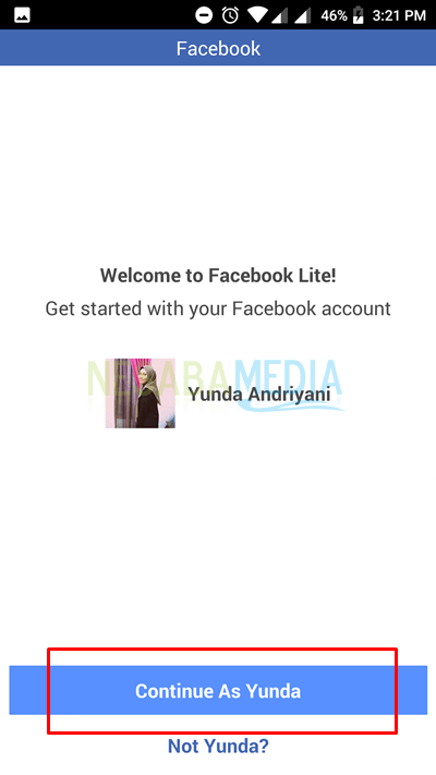 log in your acc in your fb lite apps