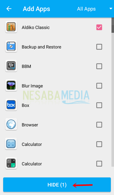 how to hide the application on an Android phone