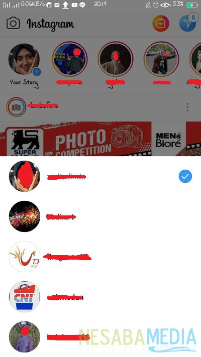 cara login dua atau lebih akun Instagram di 1 HP android