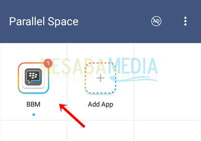 langkah 4 - pilih aplikasi BBM