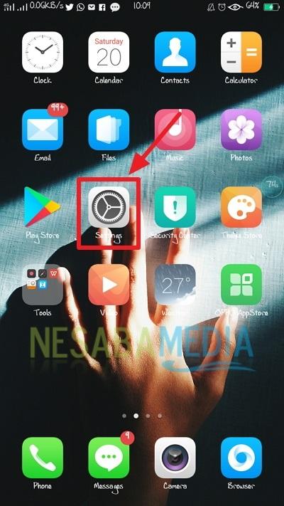 cara screenshot HP OPPO menggunakan quick gesture