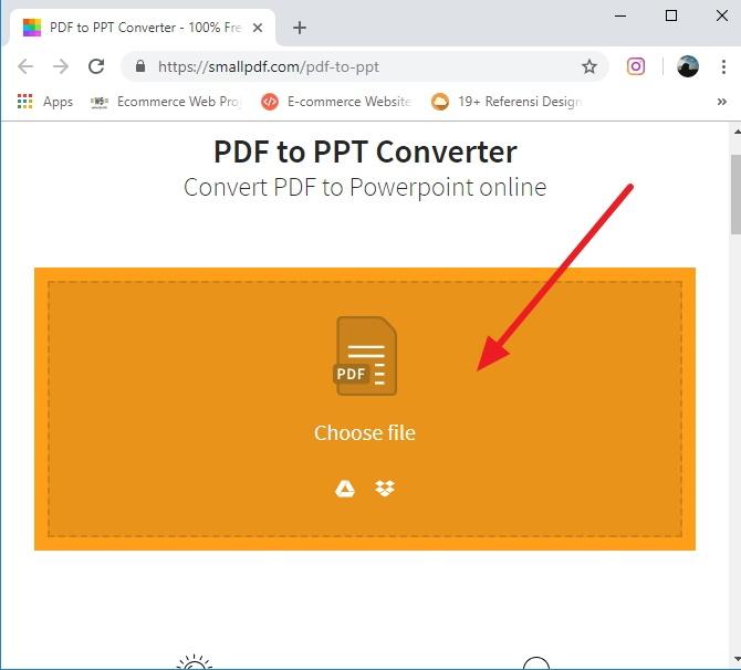 cara mengubah PDF ke PPT secara online