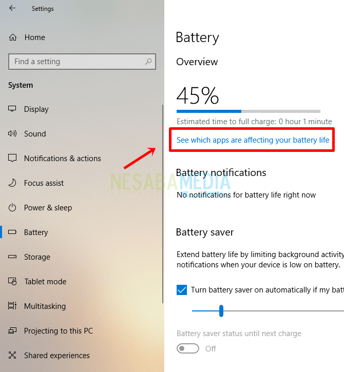 Langkah 4 - pilih see which apps are affecting your battery life