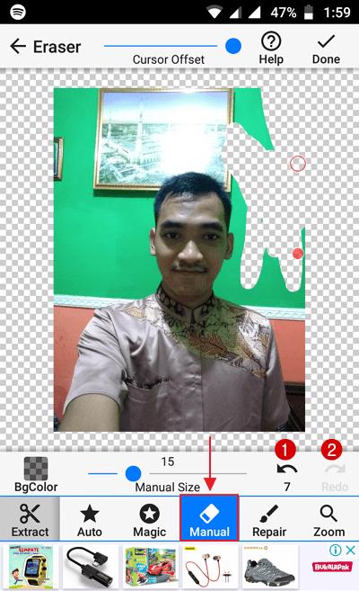 Menggunakan Background Eraser 7