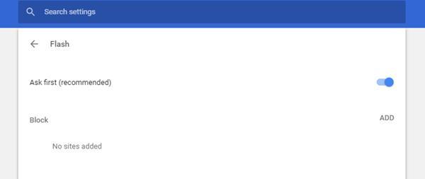 Flash tab/window close