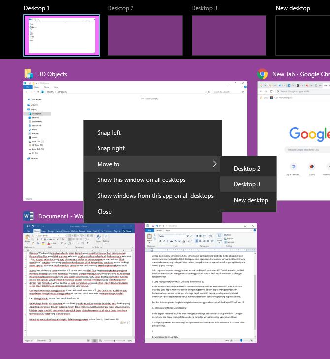 langkah 5- cara menggunakan virtual desktop di Windows 10