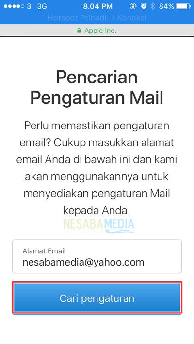 isikan alamat email