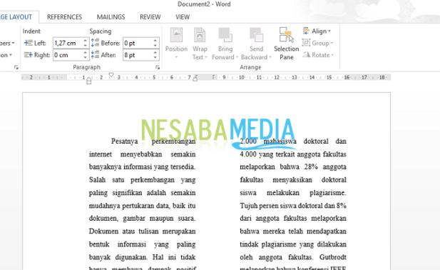 How to Make Berkolom Writing in Microsoft Word [1945-1921] </p data-recalc-dims=
