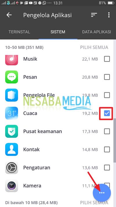 pilih aplikasi