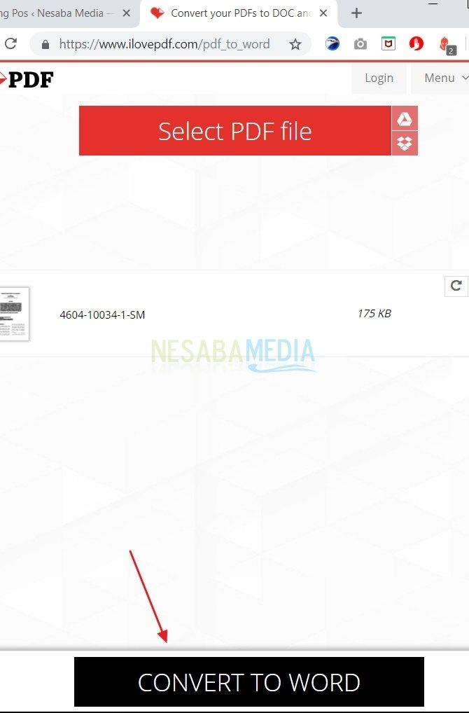 cara convert file PDF ke Word dengan cepat