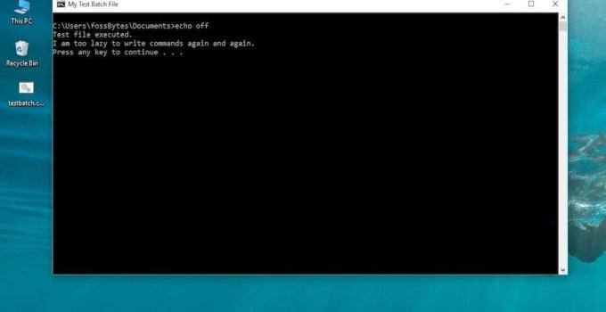 Cara Membuat File Batch (BAT) di Windows